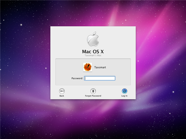 Apple OSX Password Reset
