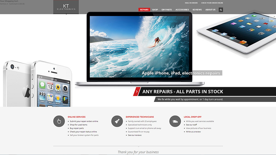 KT Electronics Launches New Website for Online Shopping and Repair Services