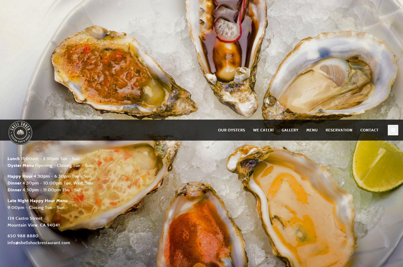 Shellshock Restaurant Website Redesign